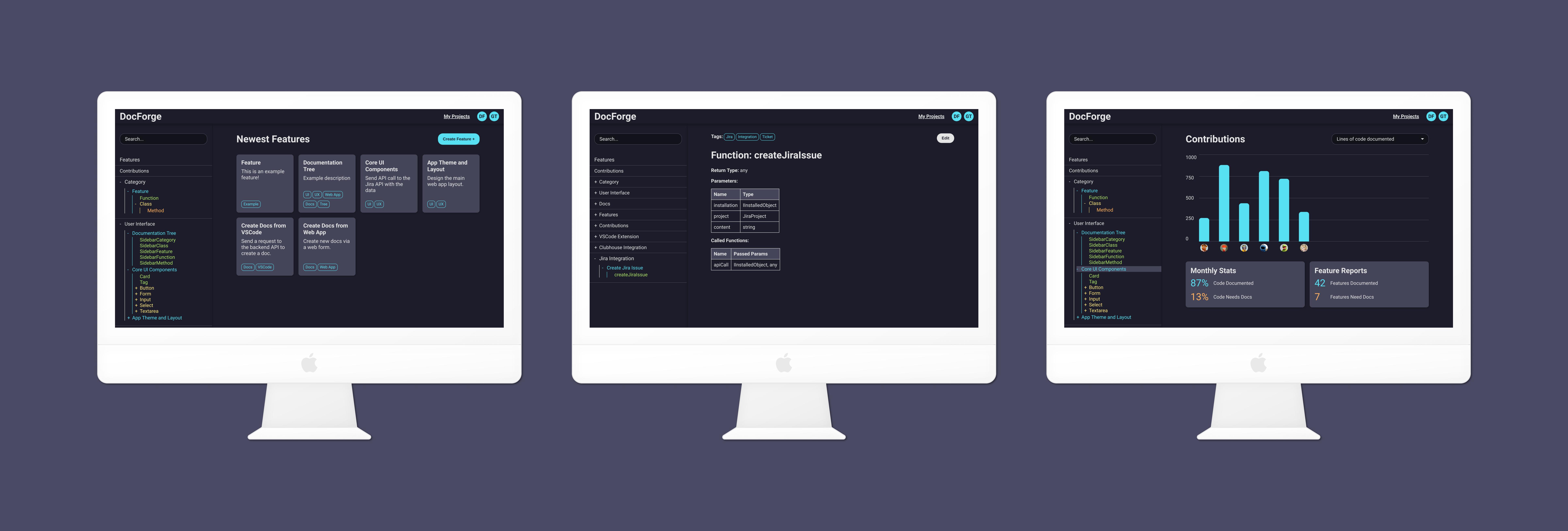 DocForge Documentation Tool Previews