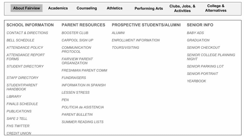 Counseling content restructure proposal